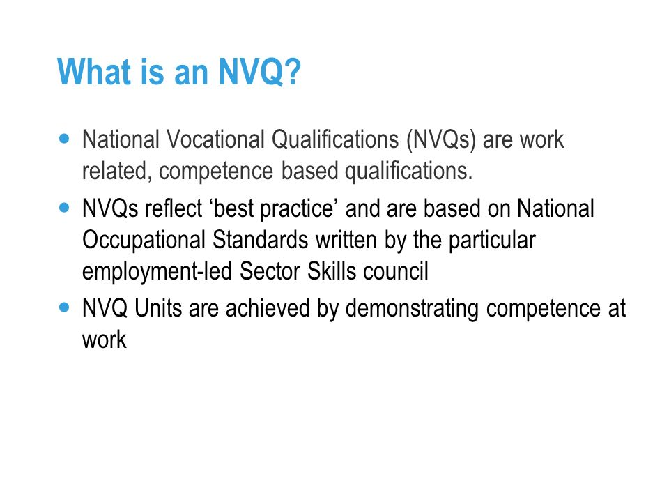 What is an NVQ.
