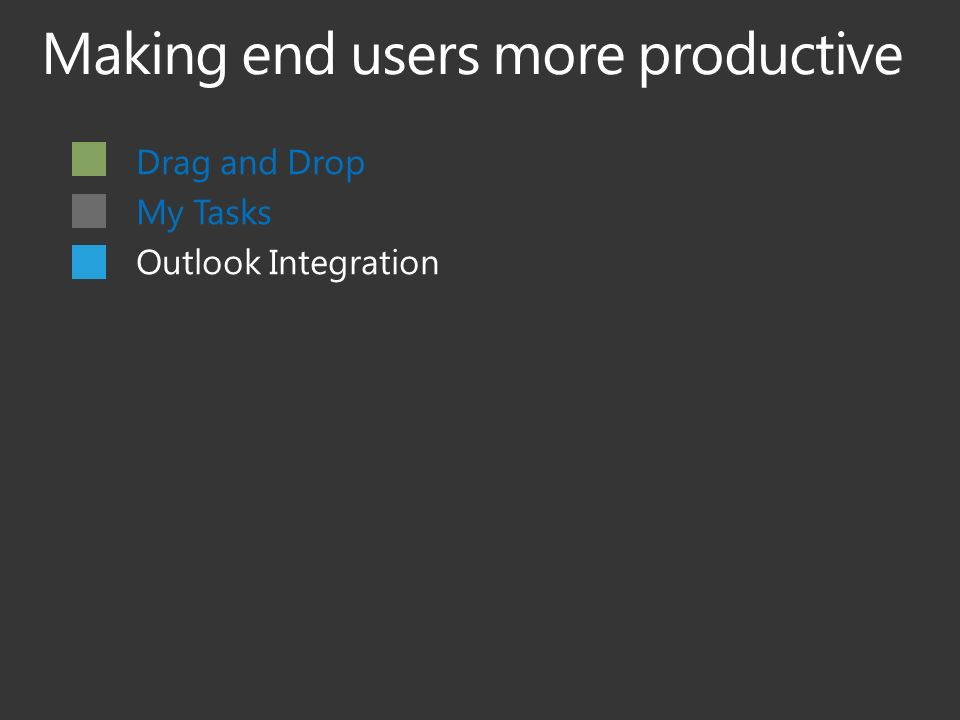 Drag and Drop My Tasks Outlook Integration