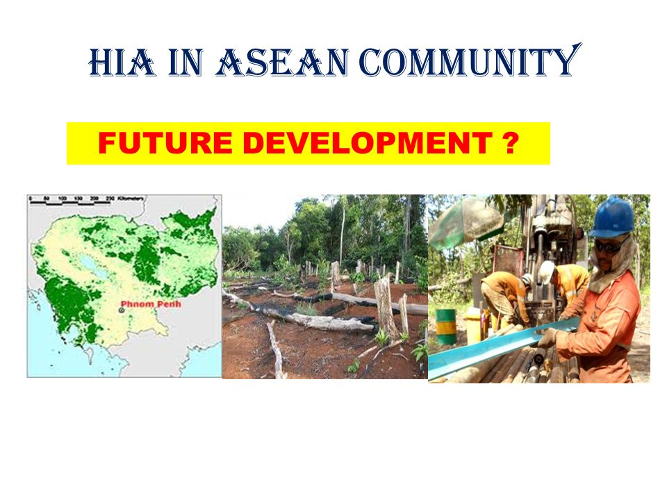 HIA IN ASEAN COMMUNITY FUTURE DEVELOPMENT
