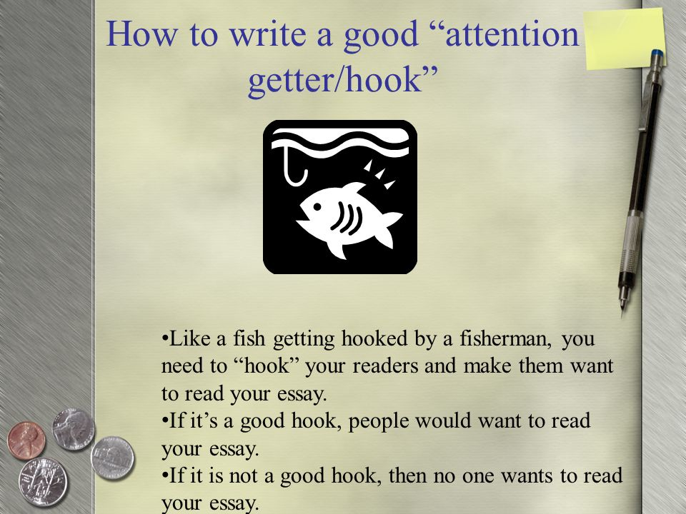 writing good essay hook