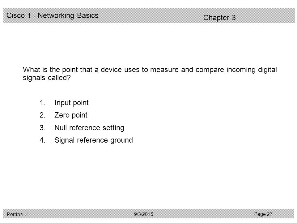 Cisco 1 - Networking Basics Perrine.