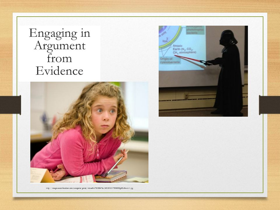 Engaging in Argument from Evidence