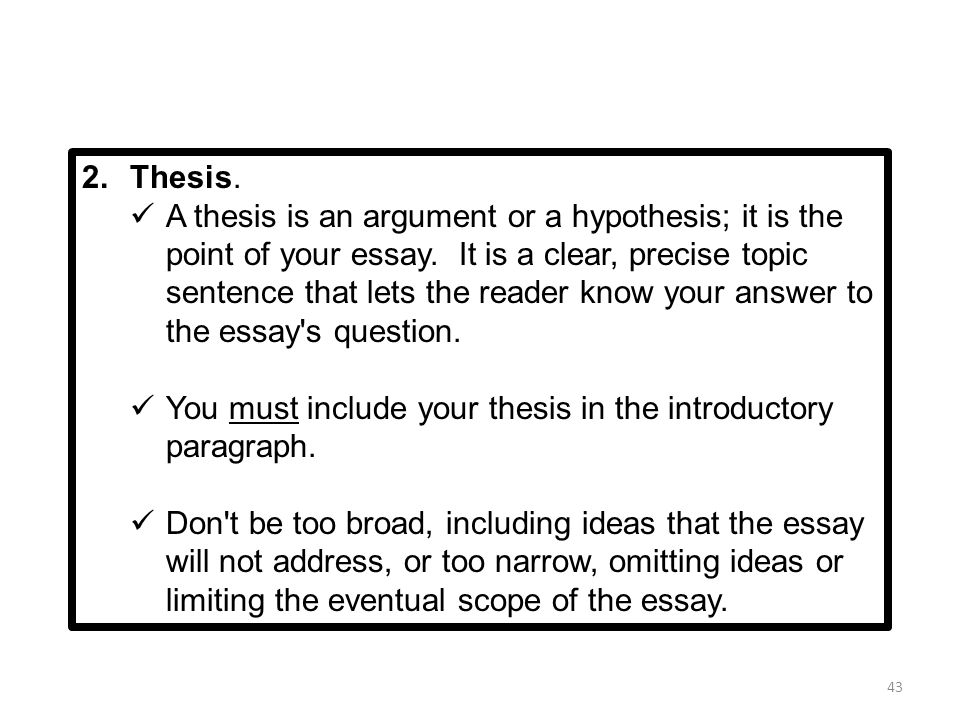 Researched argument essay topics