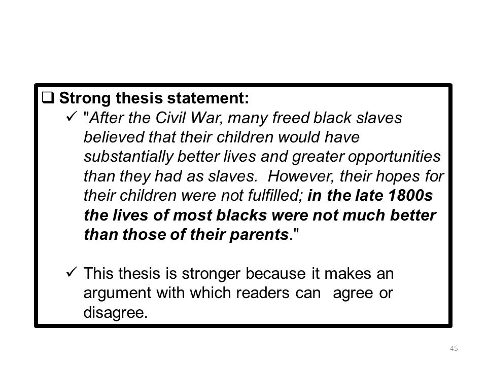 strong thesis statement for history paper Peer tutoring for history essays alumni writing centre » formulating a thesis formulating a thesis are a thesis statement and an introduction the same thing.