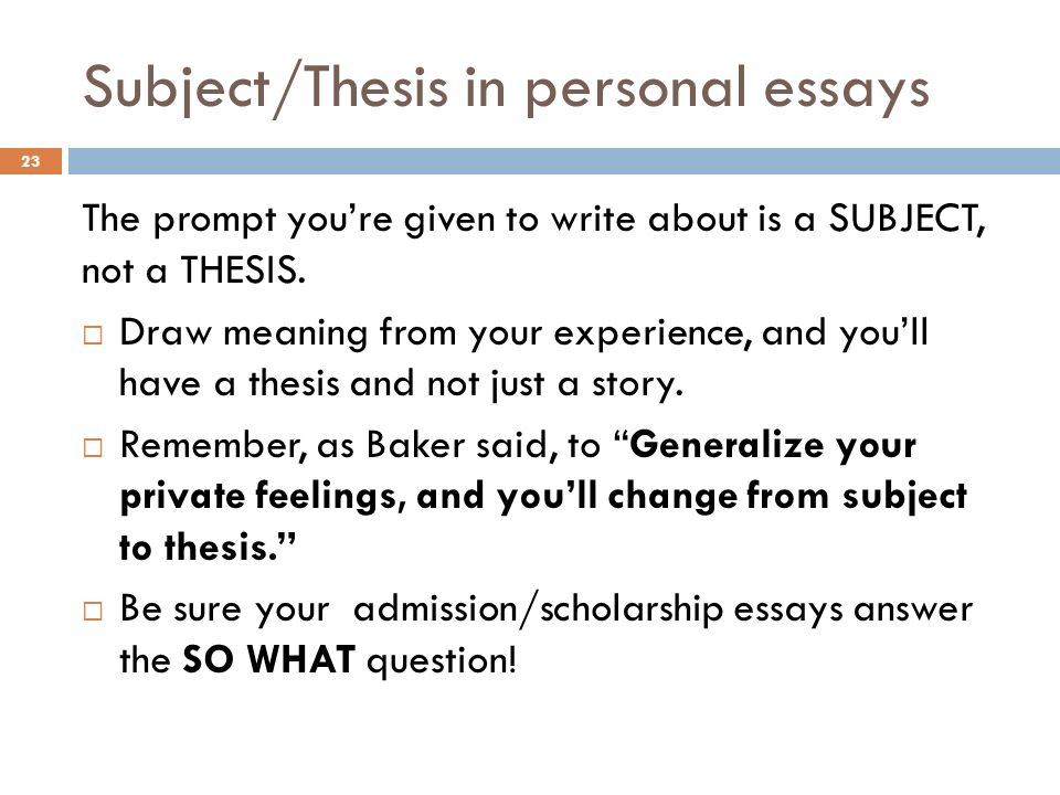 how to write a personal essay about yourself