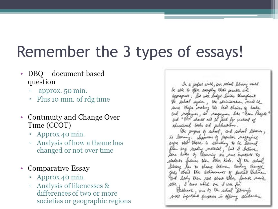 3 main types of essays