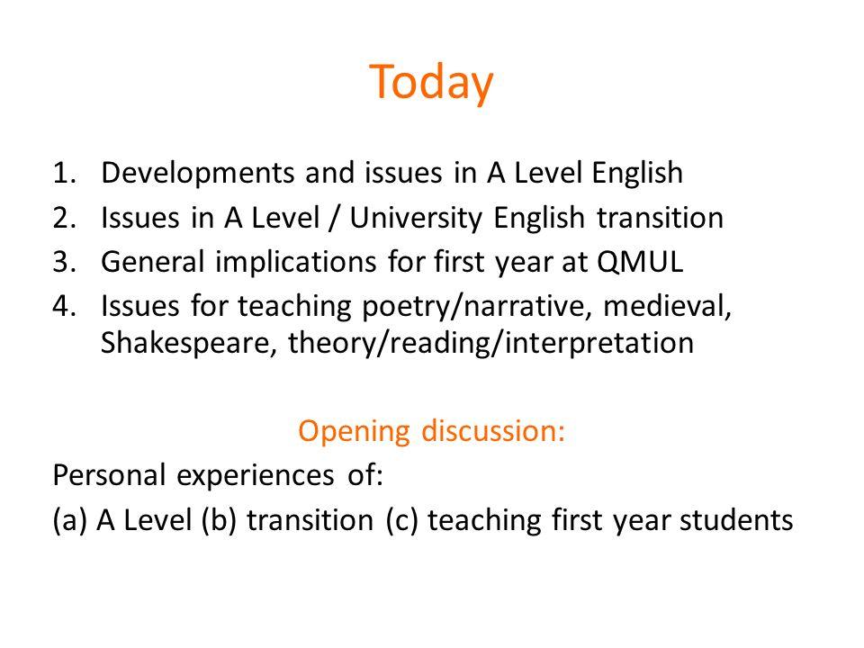 English... GCSE...ALevel...Uni?