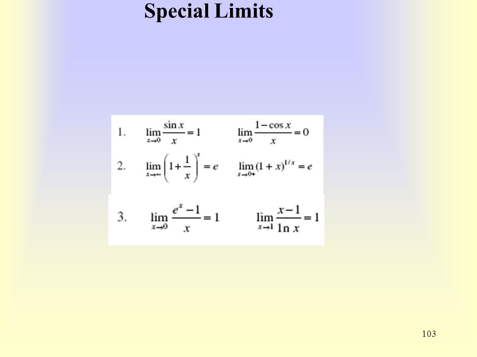 Special Limits 103