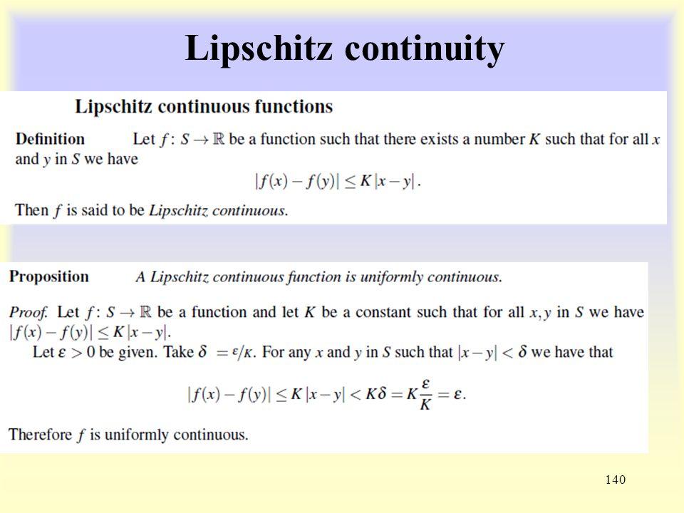 Lipschitz continuity 140