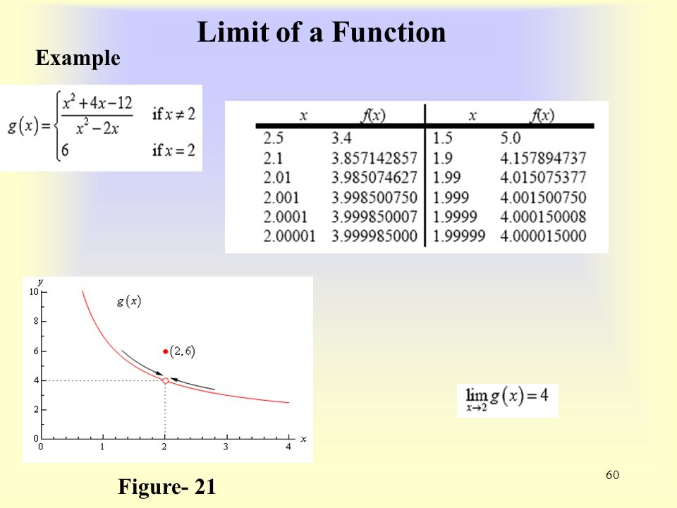 Limit of a Function 60 Example Figure- 21