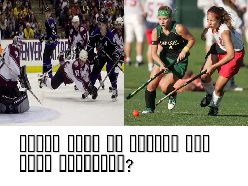 Which type of hockey has more friction