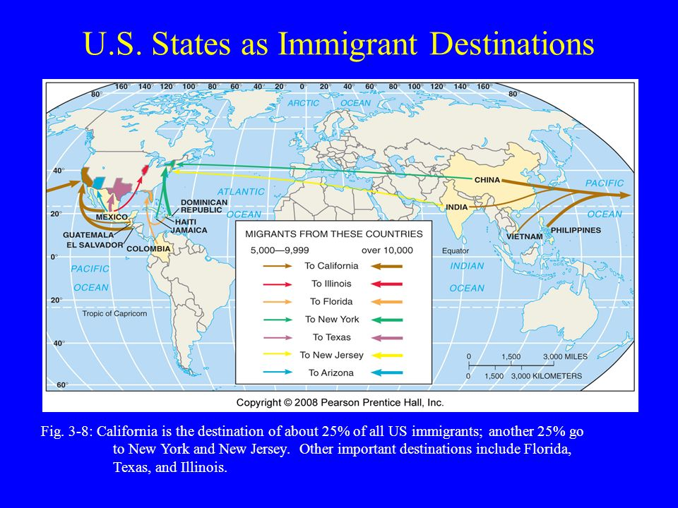 U.S. States as Immigrant Destinations Fig.