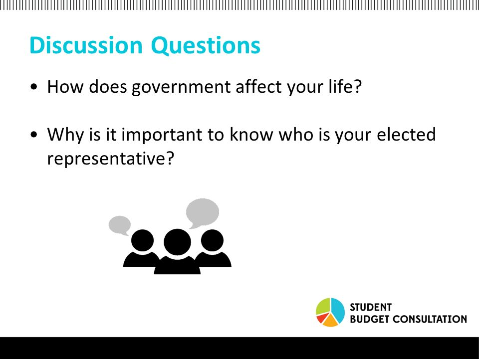 Discussion Questions How does government affect your life.