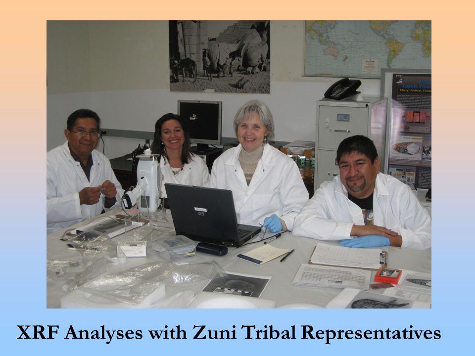 XRF Analyses with Zuni Tribal Representatives