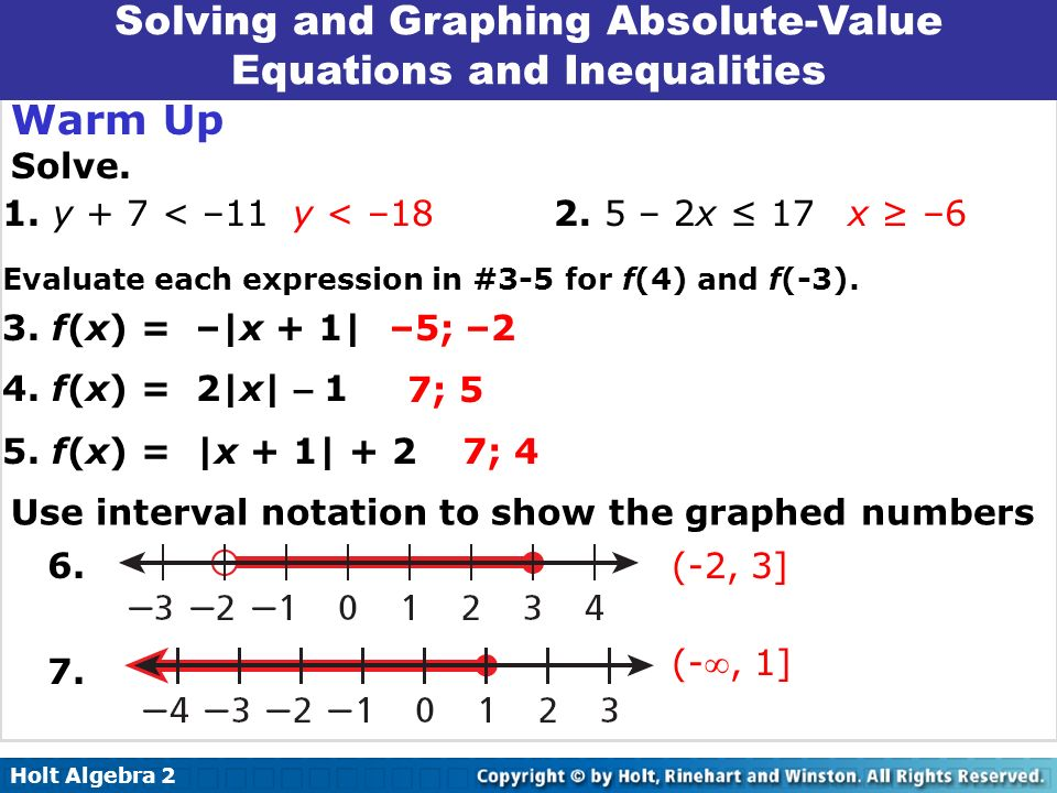 Printables Solving Absolute Value Equations And Inequalities Worksheet solving absolute value equations and inequalities worksheet holt algebra 2 8