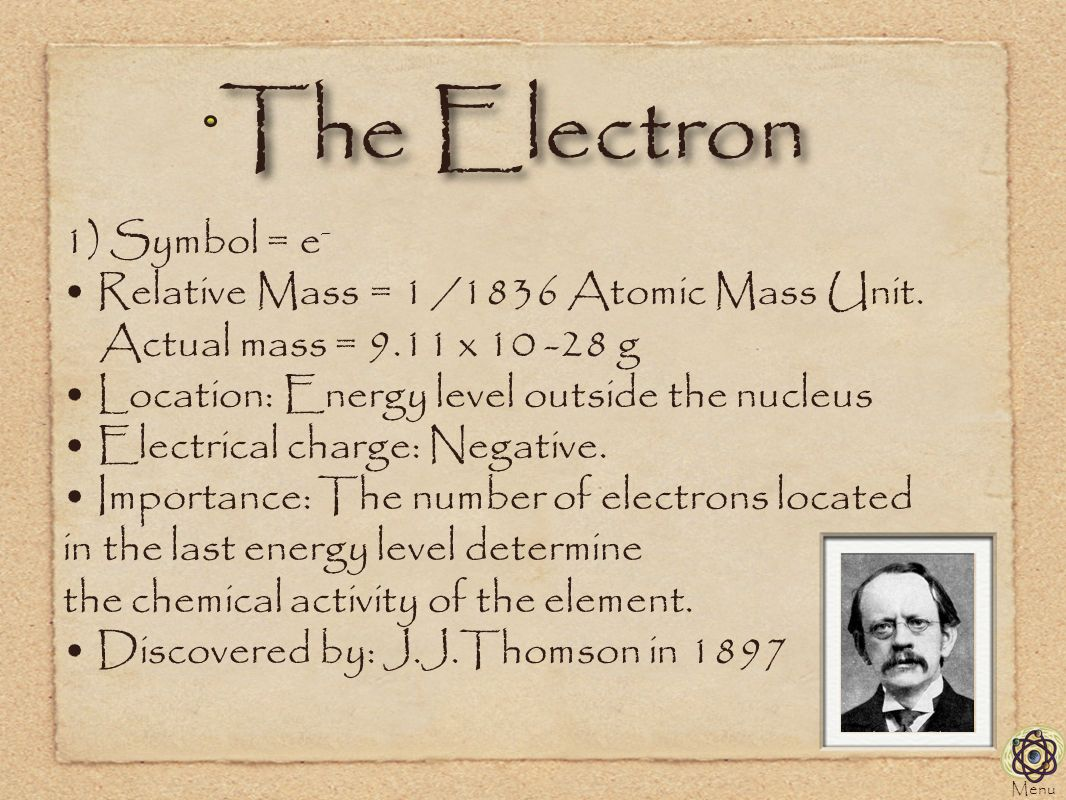 Atomic structure doug gilliland the physical science series a the electron 1 symbol e relative mass 1 1836 atomic mass buycottarizona