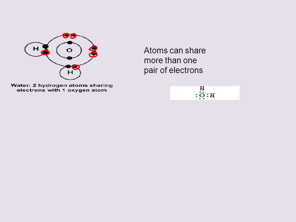Atoms can share more than one pair of electrons