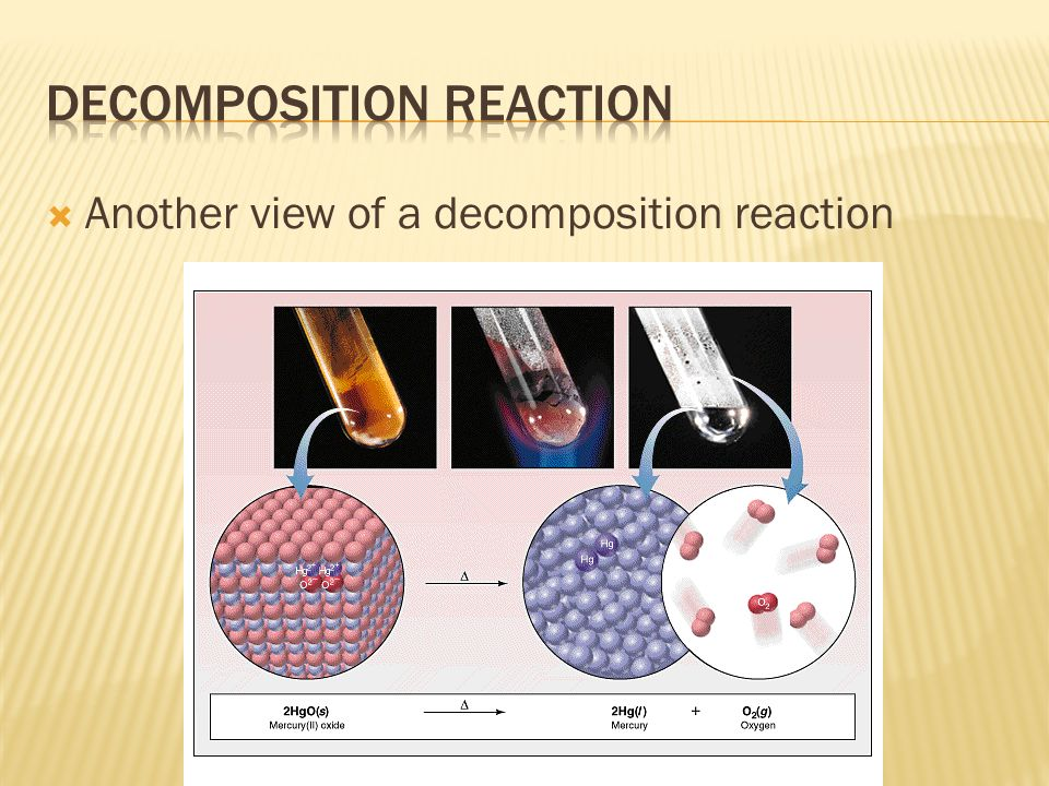  Another view of a decomposition reaction