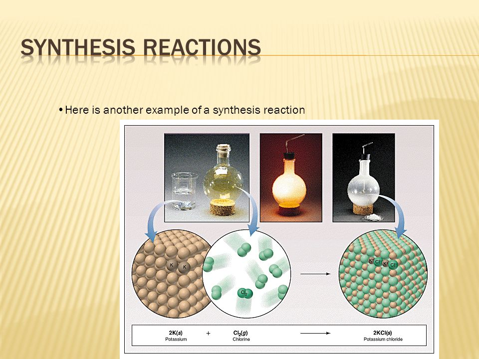 Here is another example of a synthesis reaction