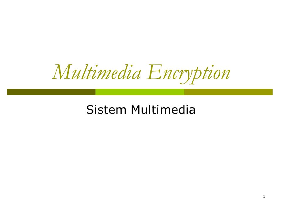 1 Multimedia Encryption Sistem Multimedia