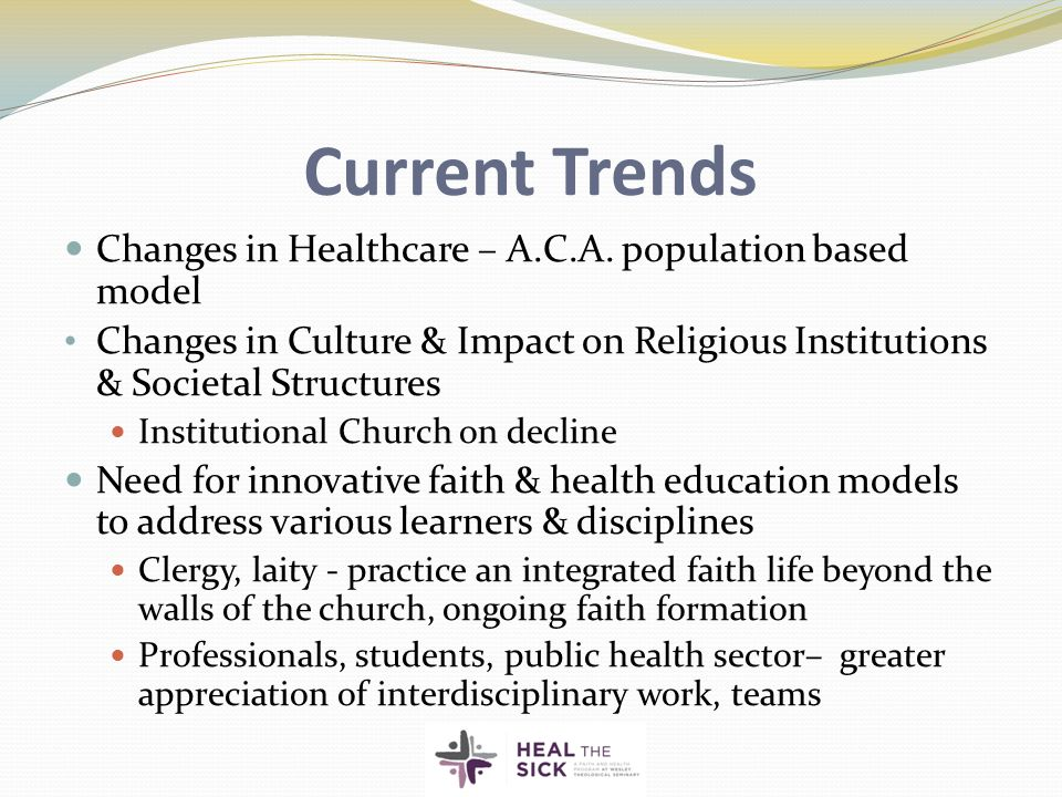 Current Trends Changes in Healthcare – A.C.A.