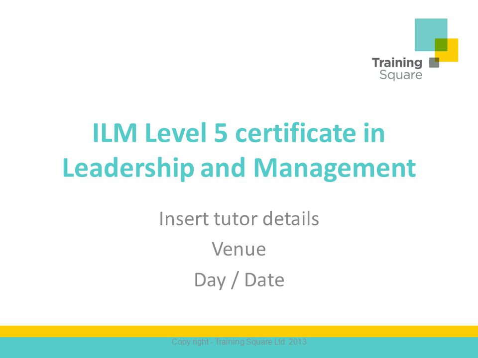 ilm level 5 coursework