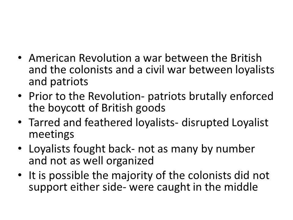essays patriots and loyalists