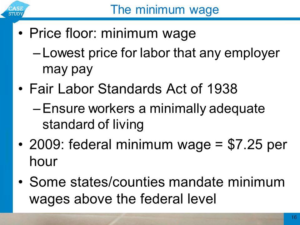 16 The Minimum Wage ...