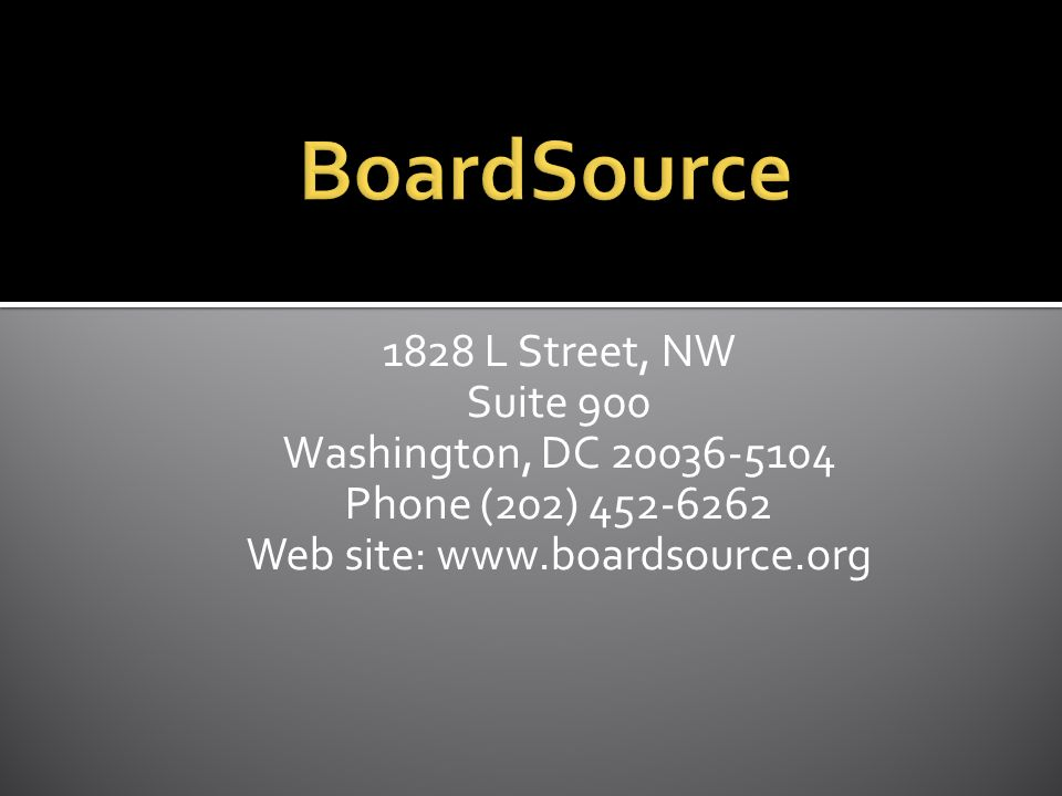 1828 L Street, NW Suite 900 Washington, DC Phone (202) Web site: