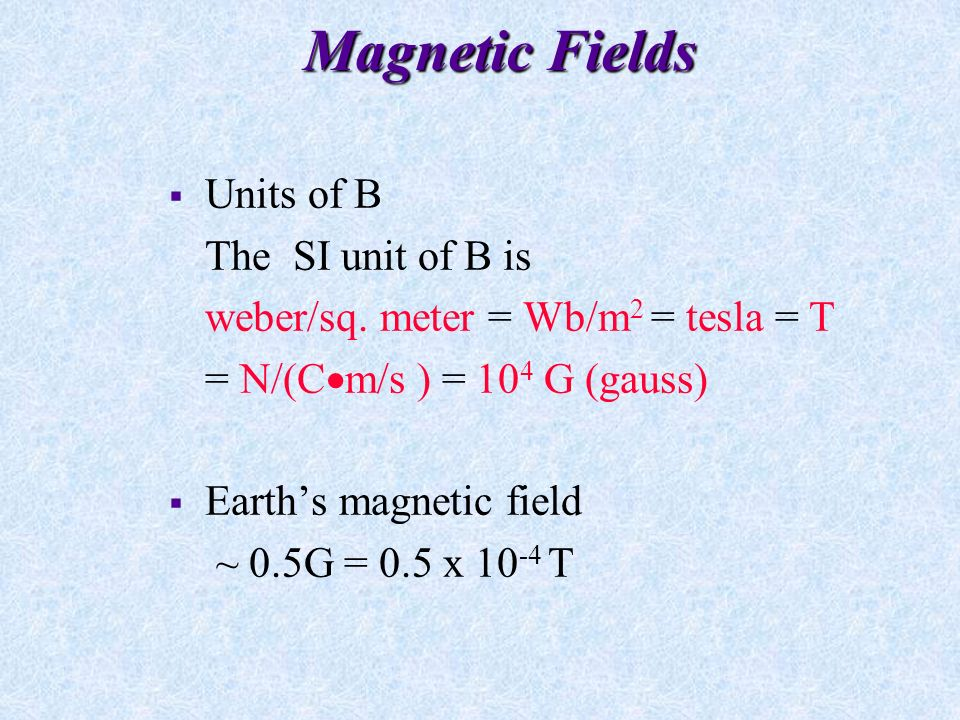 Magnetic Fields Differences between electric and magnetic forces on charged particles.