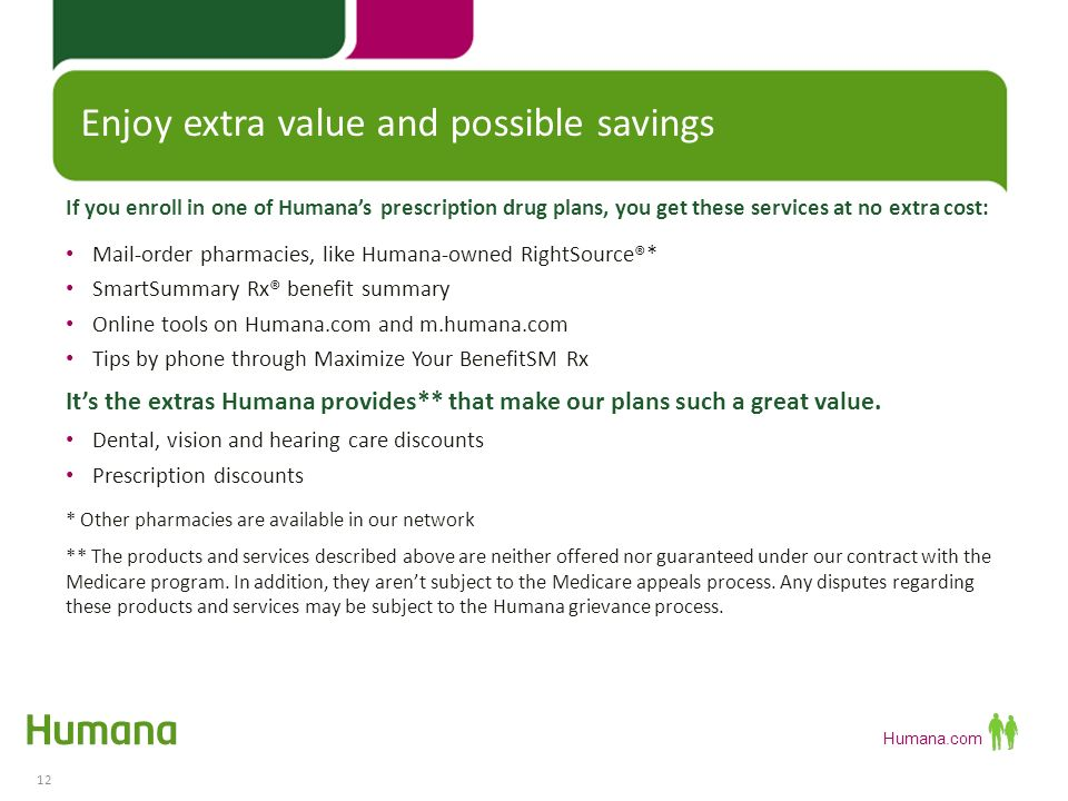 Humana Prescription Drug Plan 2014 Presentation ...
