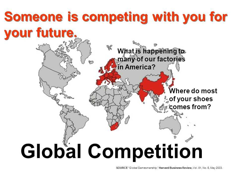 Global Competition SOURCE Global Gamesmanship, Harvard Business Review, Vol.