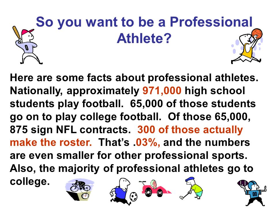 Here are some facts about professional athletes.