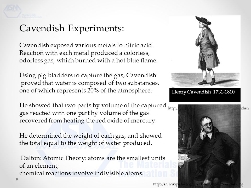 Cavendish Experiments: Cavendish exposed various metals to nitric acid.