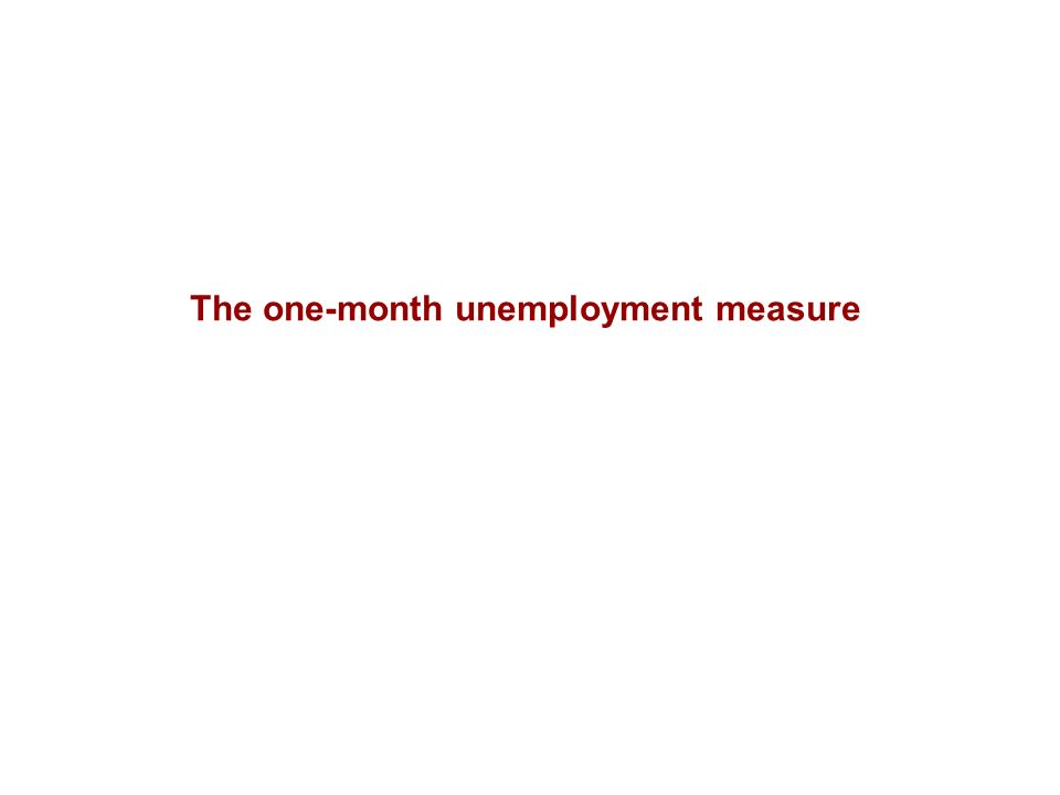 The one-month unemployment measure