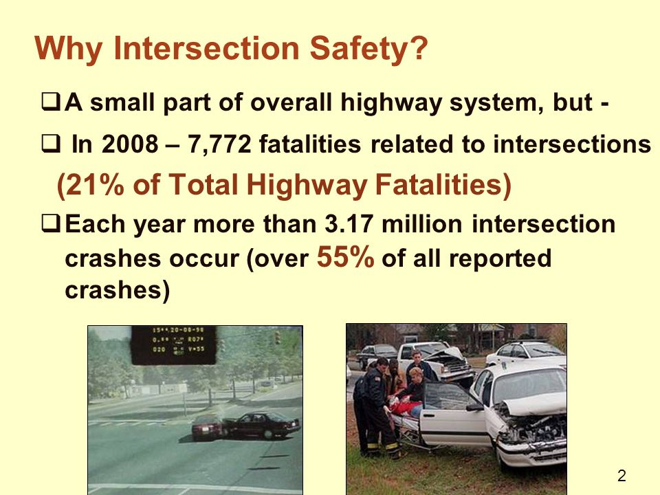 2 Why Intersection Safety.