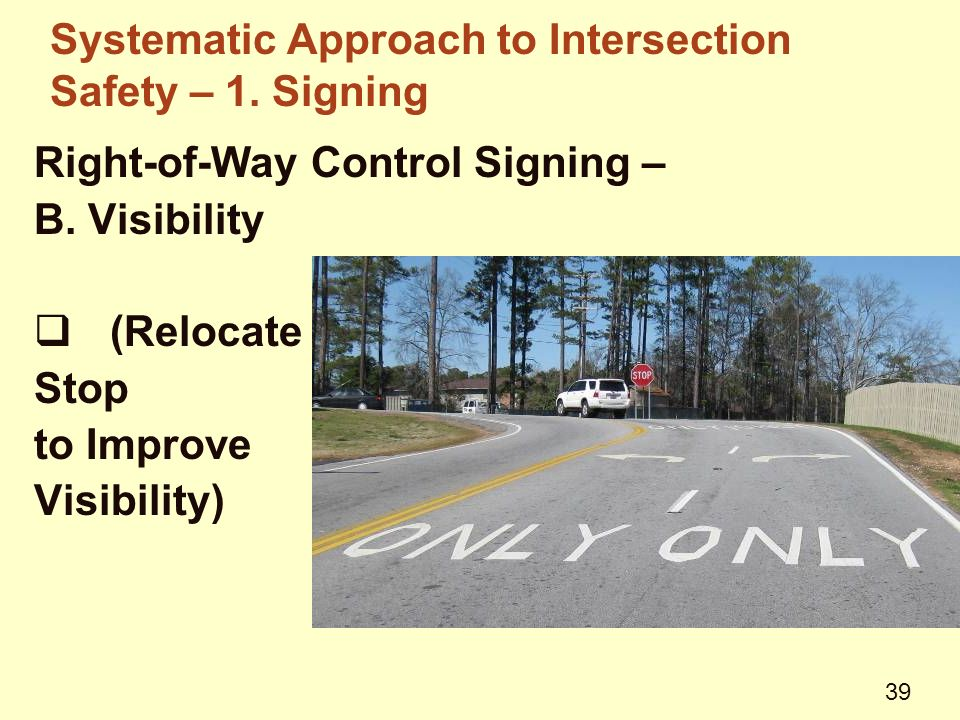 Right-of-Way Control Signing – B.