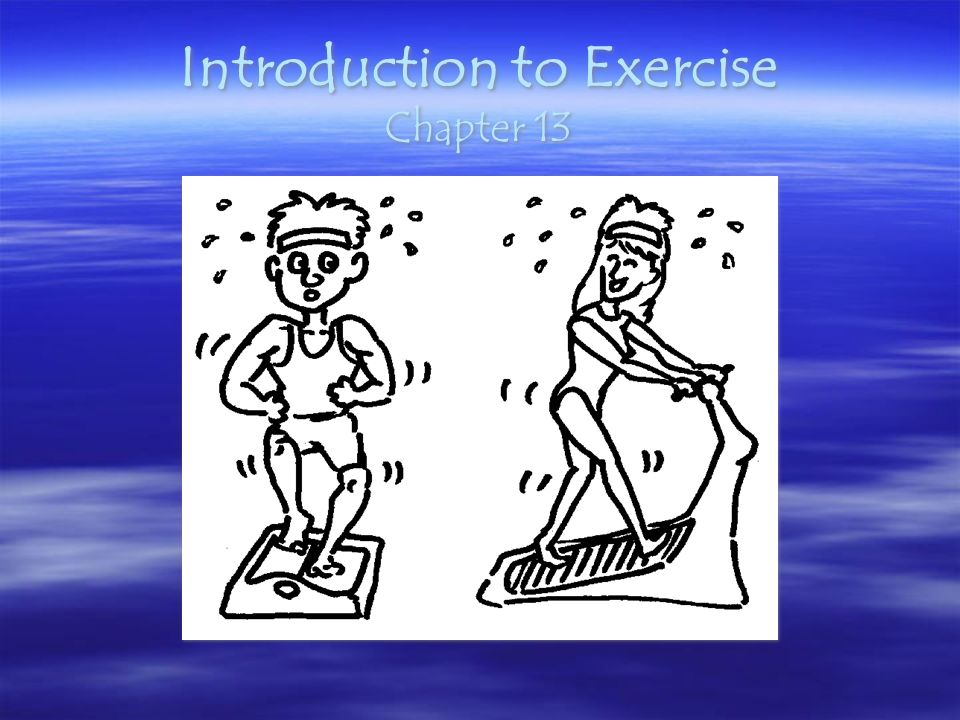 Introduction to Exercise Chapter 13