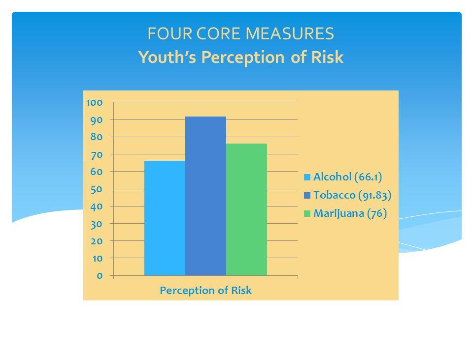 Youth's Perception of Risk FOUR CORE MEASURES