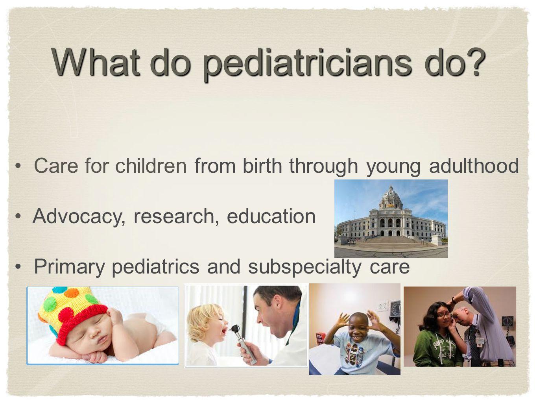 pediatricians research paper