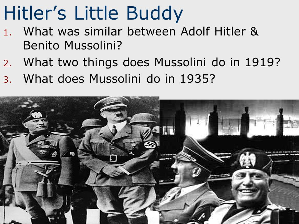 mussolini and hitler: road to power essay Essay writing guide assess the methods and conditions which enabled hitler to rise to power evaluate the factors that enabled mussolini to rise to power.