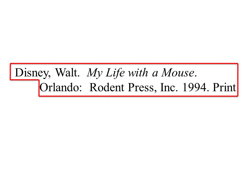 Disney, Walt. My Life with a Mouse. Orlando: Rodent Press, Inc Print
