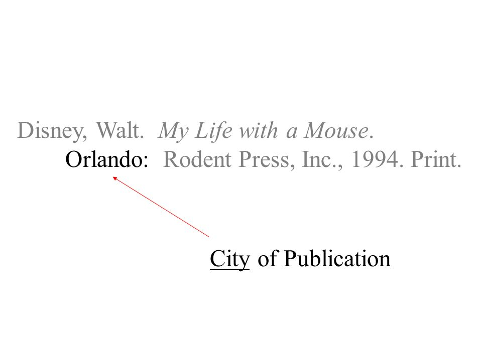 Disney, Walt. My Life with a Mouse. Orlando: Rodent Press, Inc., Print. City of Publication