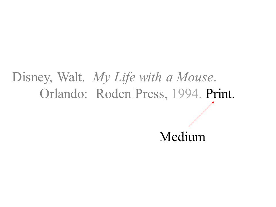 Disney, Walt. My Life with a Mouse. Orlando: Roden Press, Print. Medium