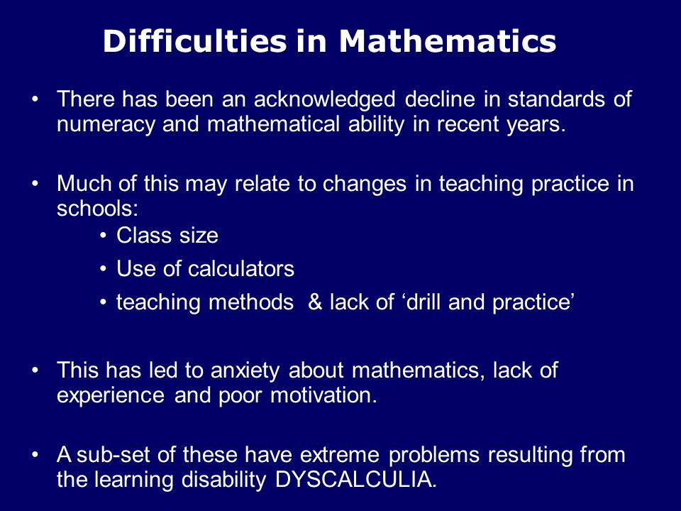"""Presentation """"Science Students with Numerical Difficulties: what ..."""