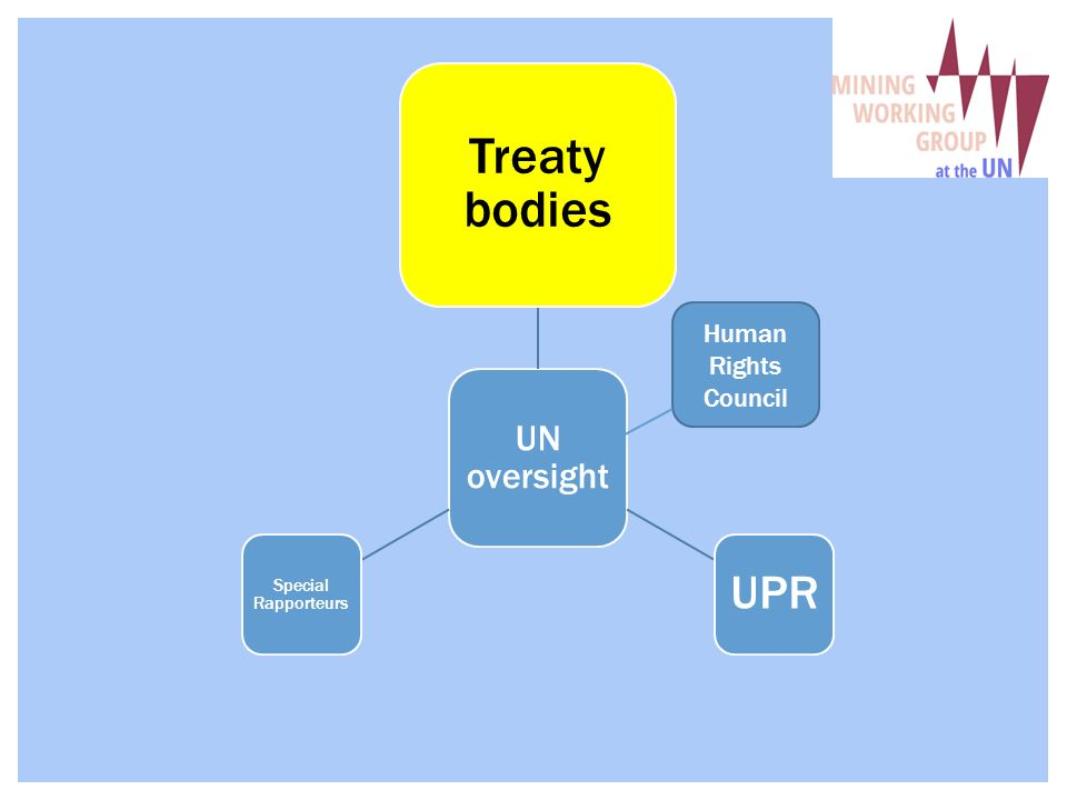 UN oversight Treaty bodies UPR Special Rapporteurs Human Rights Council