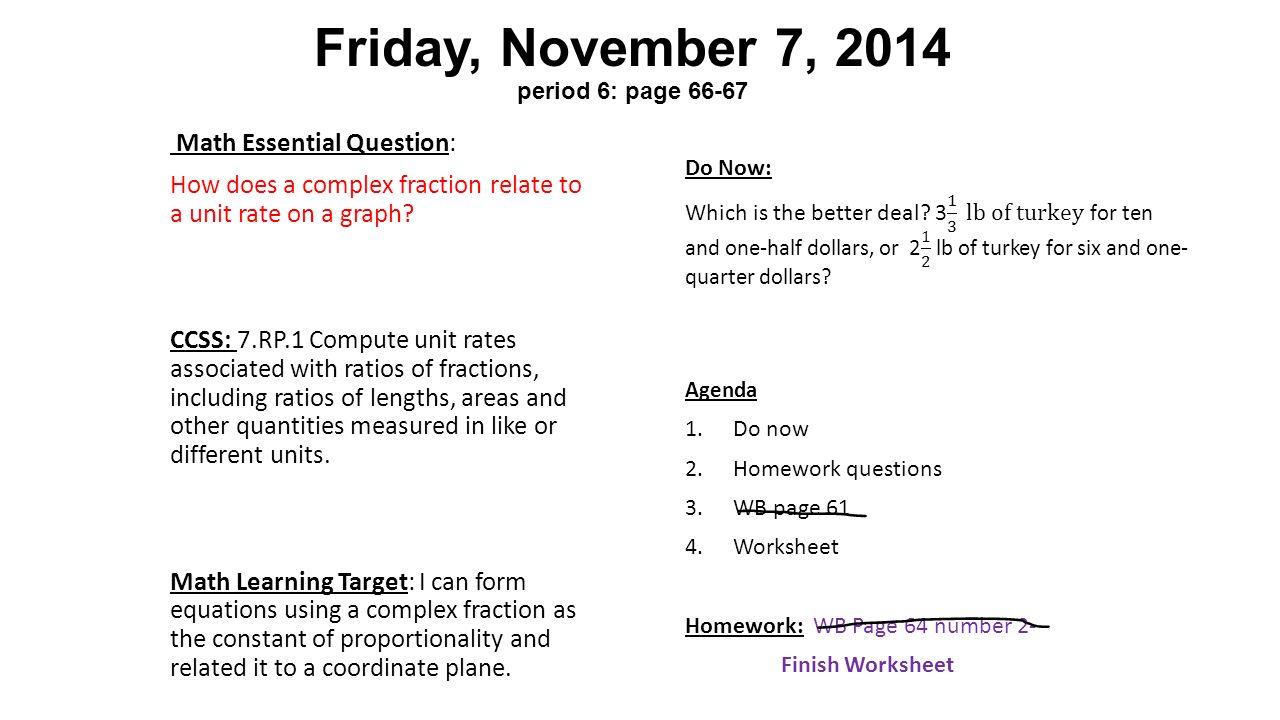 Complex Fraction Worksheet 7th Grade Worksheets For Graders Pdf ...