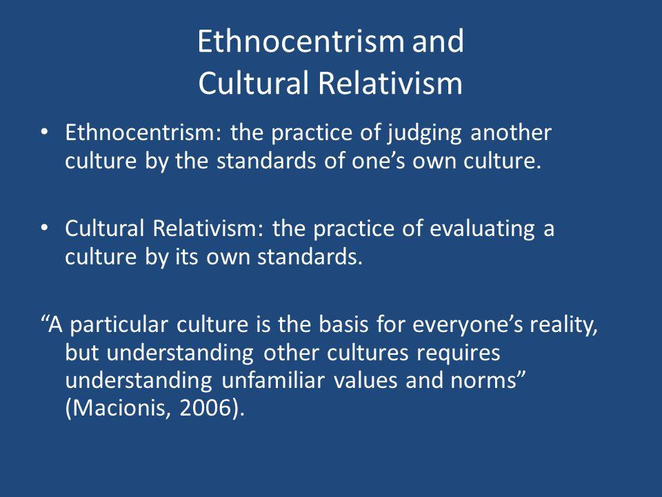 Cultural relativism thesis statement