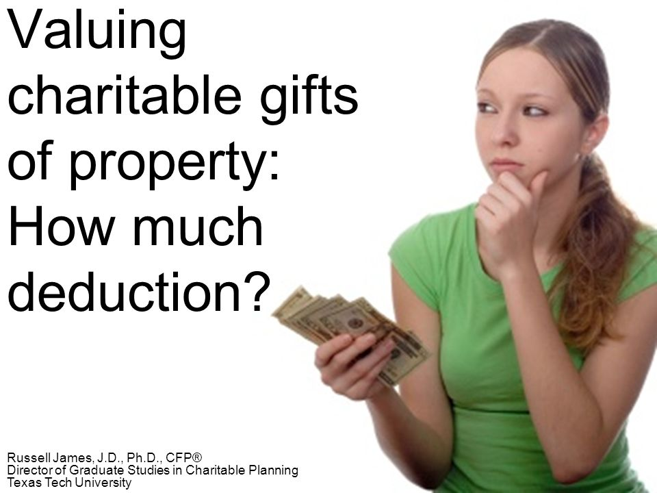 Valuing charitable gifts of property: How much deduction.