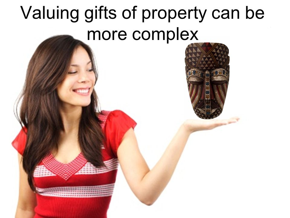 Valuing gifts of property can be more complex